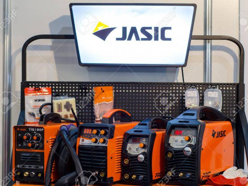 Kyiv, Ukraine - November 22, 2018: Jasic welding machines.